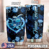 Blue Flower Sea Turtle Personalized Tumbler PRE875 -1