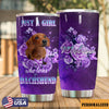 Dachshund Personalized Just A Girl Who Loves Dachshunds Tumbler PRE980 -1