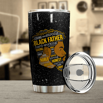 Black Father Personalized Thank You Tumbler PRE846 -2