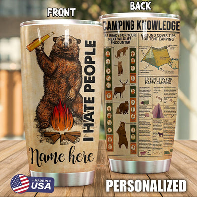 Camping Personalized I Hate People Tumbler PRE920 -1