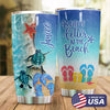 Beach Personalized Life Is Better At The Beach Tumbler PRE823 -1