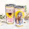 She Is Life Itself Wild And Free Sunflower Hippie Tumbler NPF87TC - 1