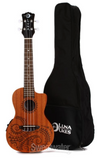 Luna Tattoo Concert Ukulele (Acoustic/Electric)