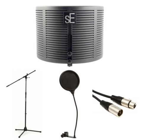 sE Electronics Reflexion X Studio Vocal Kit with Microphone Stand, Cable, and Pop Filter
