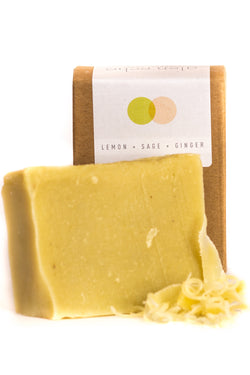 Artisanal Lemon + Sage + Ginger Soap - Good Cloth