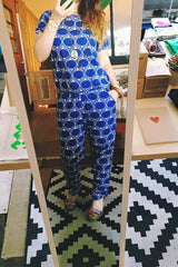 June Leaf Deep Blue Jumpsuit - Good Cloth