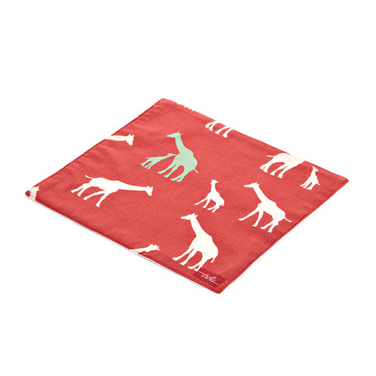 Giraffe Organic Cotton Poplin and Terry Washcloth - Good Cloth