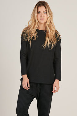 Alpaca Crew Pullover in Black - Good Cloth