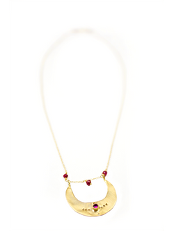 Single Crescent Necklace in 14k Gold - Good Cloth