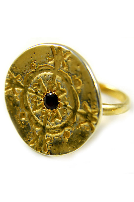 Disc Ring in 14k Gold - Good Cloth