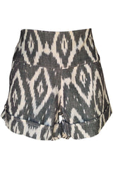 Limited Quantity Ikat Shorts in Driftwood