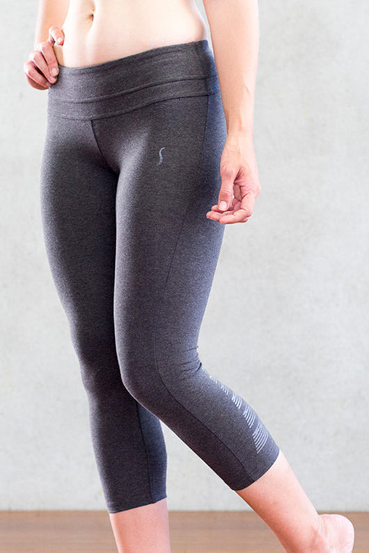 Power Crop Organic Cotton Yoga Pants & Ancient Tally Marks
