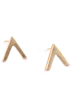 Pop V Stud Earrings - Good Cloth