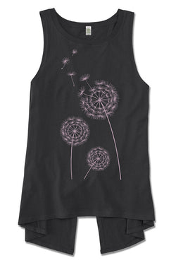 Wish Upon a Dandelion—Organic Cotton Split Back Tank - Good Cloth