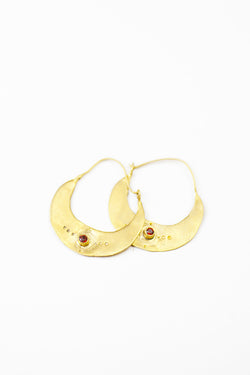 Crescent Earrings in 14k Gold - Good Cloth
