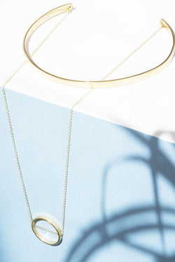 Choker Circle Drop Necklace - Good Cloth