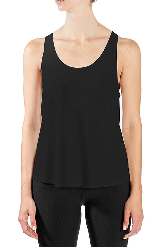 Bamboo Viscose Racerback Year-Round Tank in Black - Good Cloth