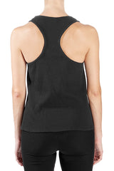 Thermal Racerback Year-Round Tank in Black - Good Cloth
