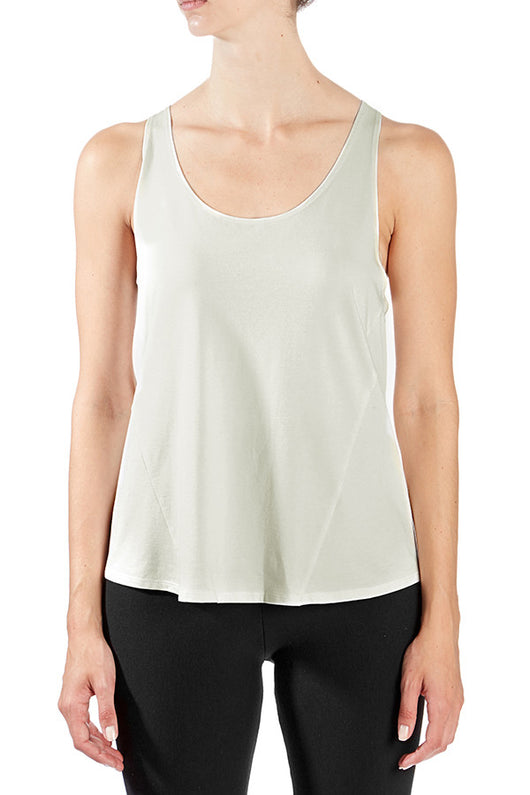 Hemp + Organic Cotton Racerback Year-Round Tank in Cream - Good Cloth