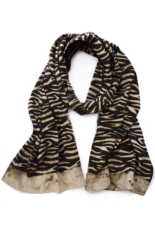 Organic Cotton Scarf in Earth Lines - Good Cloth