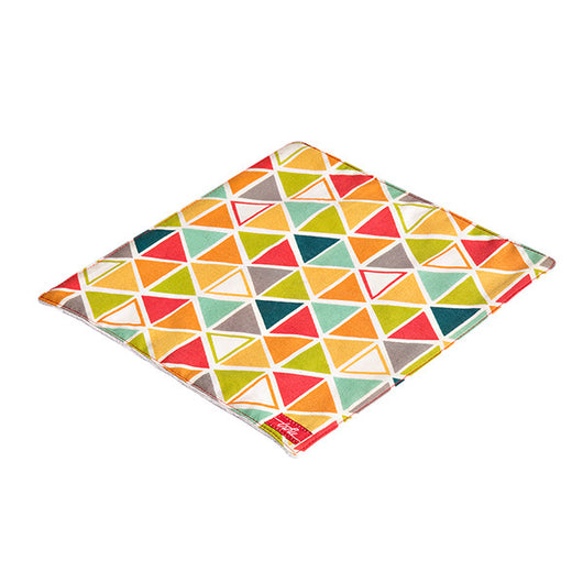 Geometric Organic Cotton Poplin and Terry Washcloth - Good Cloth