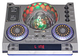 "Fully Amplified Portable 5000 Watts Peak Power 2 x12"" Speaker with DISCO BALL"