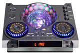 2 x 15'' Amplified Powered Speaker, 8000 Watts With LED Light Ball