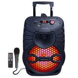 "Fully Amplified Portable 1200 Watts Peak Power 8"" Speaker with LED LIGHT"