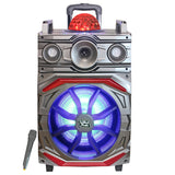 "Top Tech Audio Fully Amplified Portable 3500 Watts Peak Power 10"" Speaker with DISCO BALL"