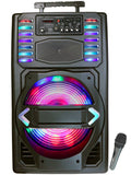 "Fully Amplified Portable 3500 Watts Peak Power 15"" Speaker WITH LED LIGHT"
