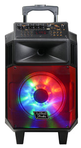 "Fully Amplified Portable 1300 Watts Peak Power 8"" Speaker with LED LIGHT"