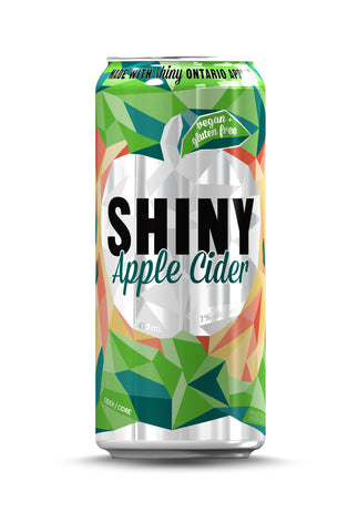 24 pack of Shiny Apple Cider Cans