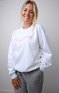 White Frankie Crew Sweat