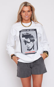 Limited Edition White Frankie Crew Sweat