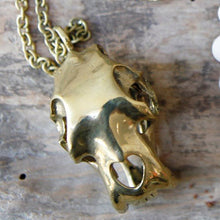 Load image into Gallery viewer, Gold Skull Necklace