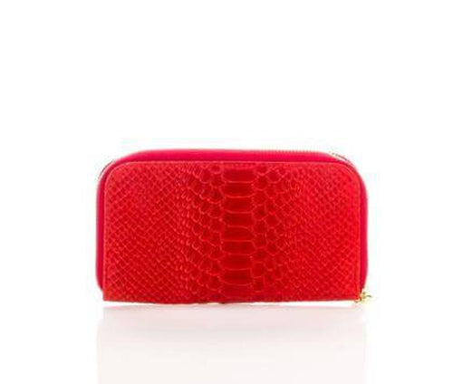 Italain leather red wallet
