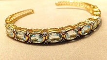 Load image into Gallery viewer, Blue topaz gemstone bracelet