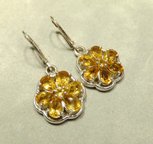 Load image into Gallery viewer, Citrine flower earrings