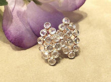 Load image into Gallery viewer, White topaz gemstone earrings