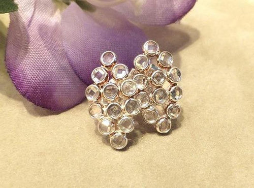 White topaz gemstone earrings