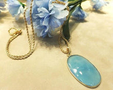 Load image into Gallery viewer, Blue chalcedony necklace