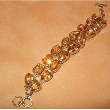 Load image into Gallery viewer, Citrine Gemstone Bracelet in Sterling Silver - butlercollection