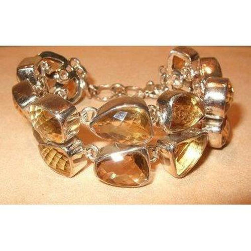 Citrine Gemstone Bracelet in Sterling Silver - butlercollection