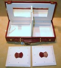 Load image into Gallery viewer, Red Leather Jewelry Travel Case - butlercollection