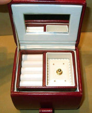 Load image into Gallery viewer, Red Leather Jewelry box - butlercollection
