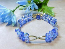 Load image into Gallery viewer, Blue Swarovski Crystal bracelet