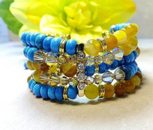 Load image into Gallery viewer, Turquoise gemstone bracelet