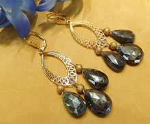 Load image into Gallery viewer, Labradorite and Gold Earrings - butlercollection