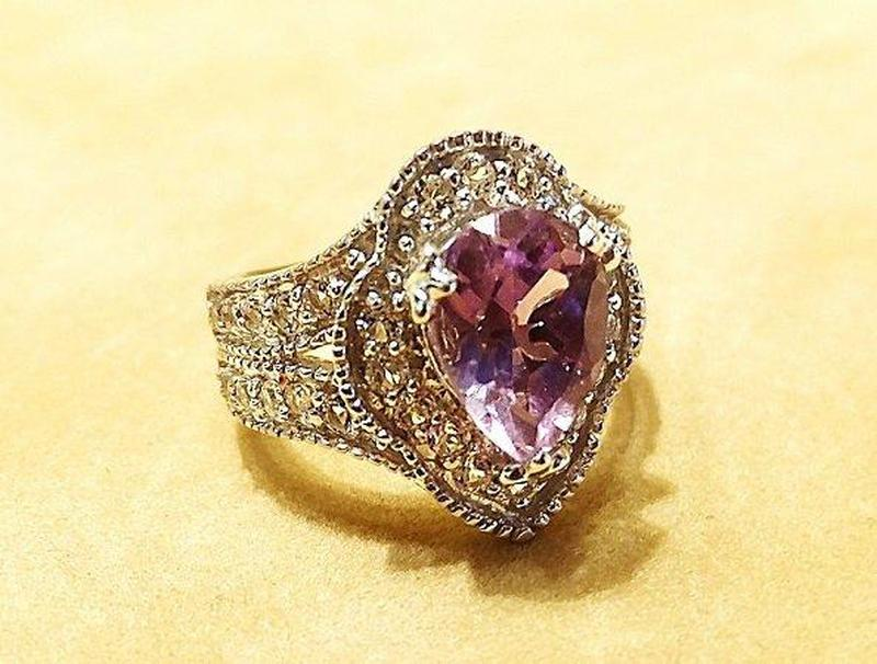 Woman's amethyst and sterling silver ring