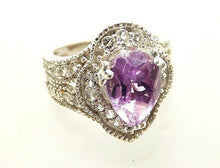 Load image into Gallery viewer, Best woman's Amethyst and sterling silver ring - butlercollection